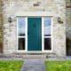 Green Windsor front door