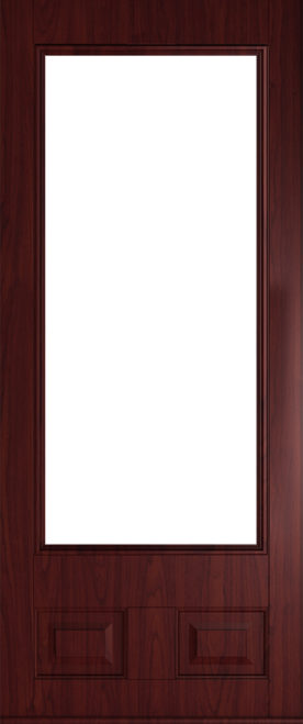glazed rosewood alnwick front door
