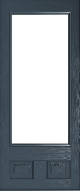 anthracite grey alnwick glazed door