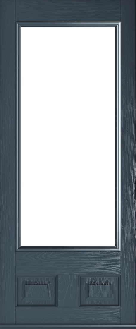 anthracite grey alnwick glazed door