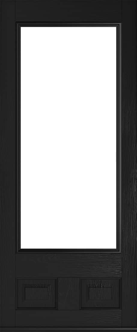 black glazed alnwick door