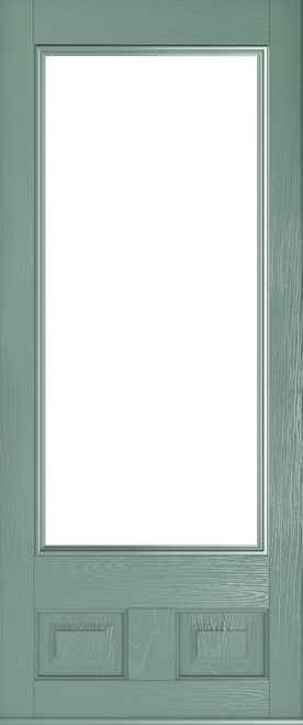 chartwell green alnwick glazed front door