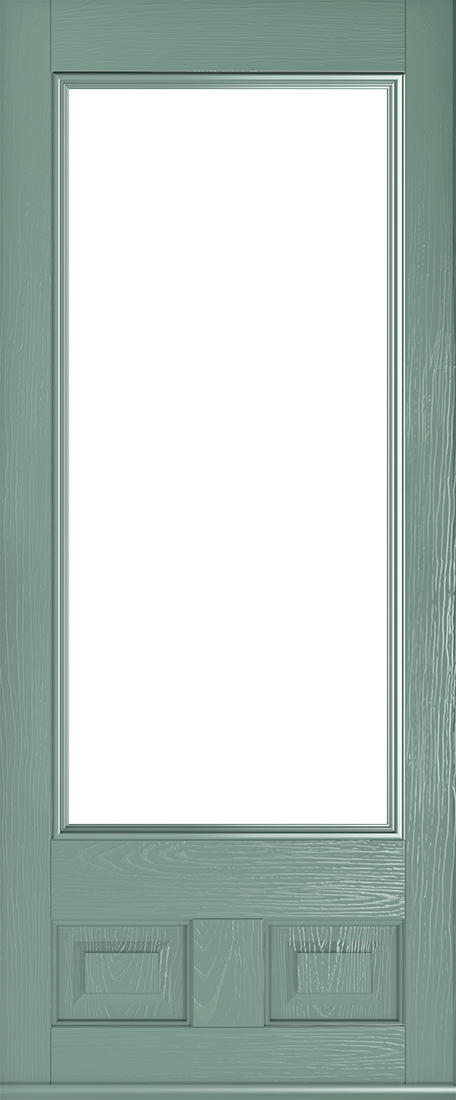 chartwell green alnwick glazed front door