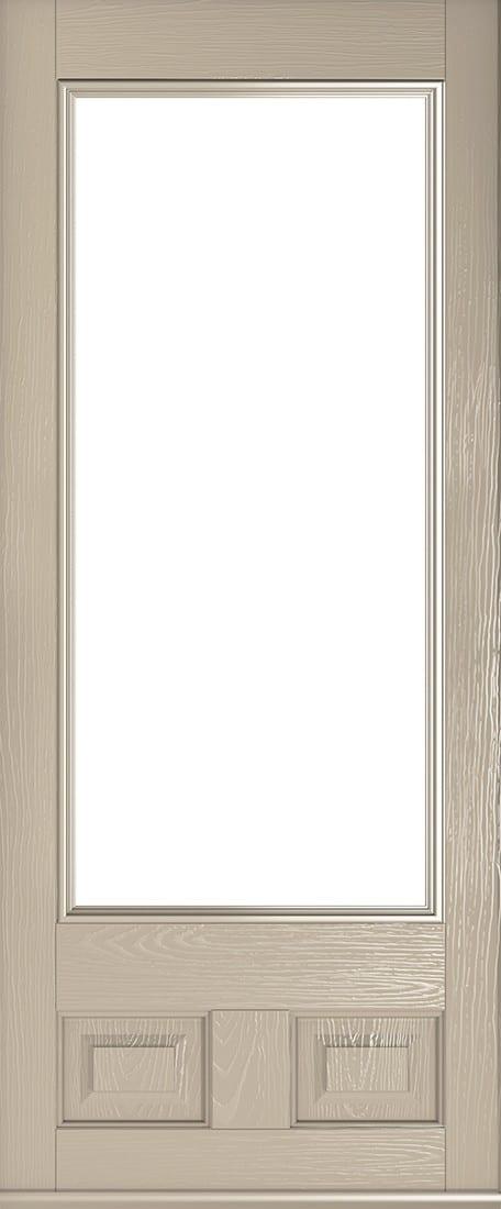 cream alnwick glazed door