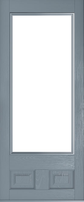 glazed french grey alnwick door