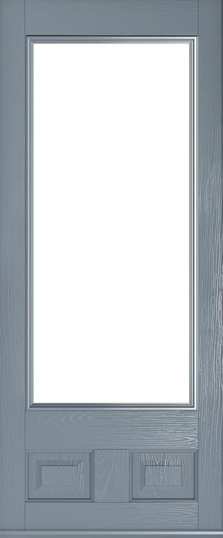 glazed french grey alnwick door