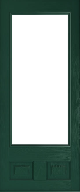 alnwick glazed green door