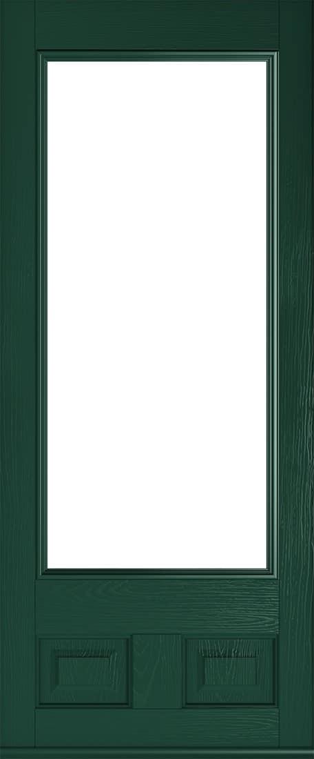 alnwick glazed green door