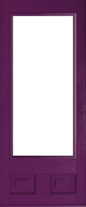 rich aubergine door alnwick glazed