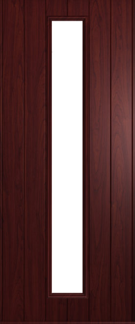 A Solidor Amalfi door in rosewood