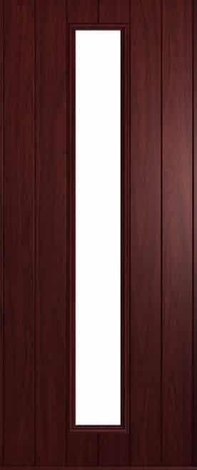 A Solidor Amalfi door in rosewood