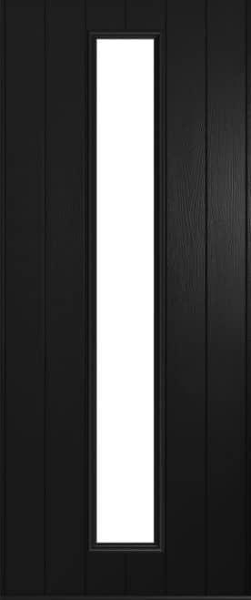 A Solidor Amalfi door in black