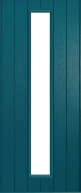 A Solidor Amalfi door in peacock blue