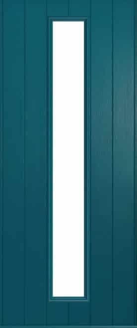 A Solidor Amalfi door in peacock blue