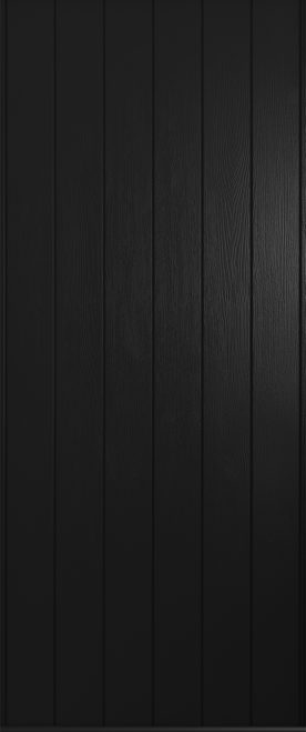 A Solidor Ancona front door in black