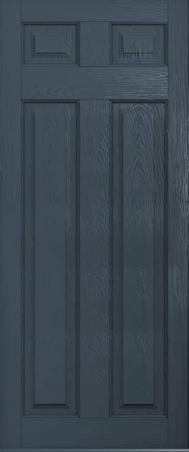 solid grey composite door