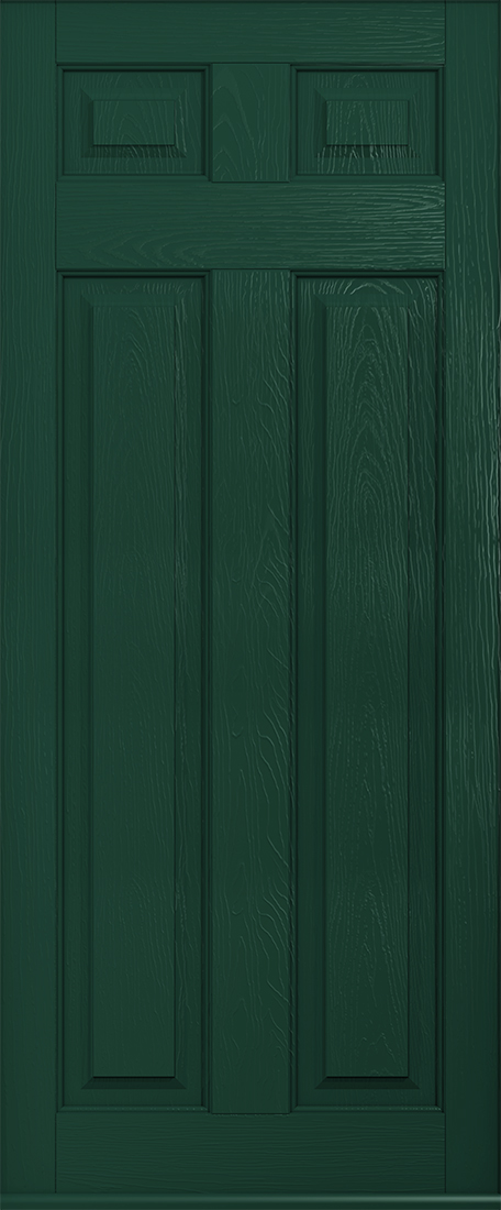 Green berkley solid door