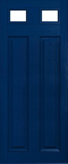 Dark blue glazed Berkley solidor