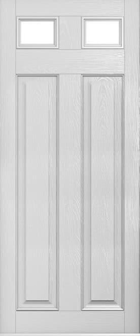 Foiled white berkley door