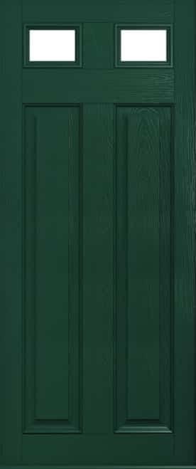 Berkley glazed green door