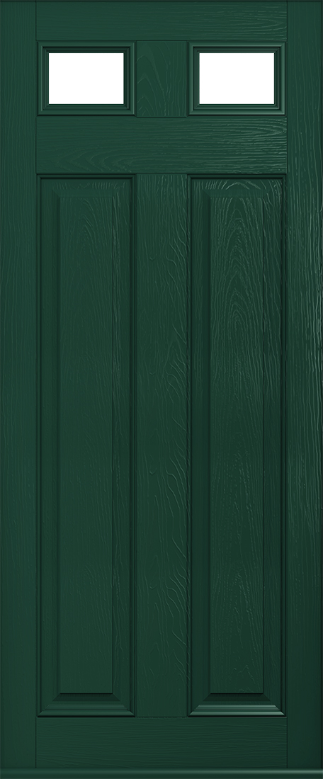 Berkley glazed green door