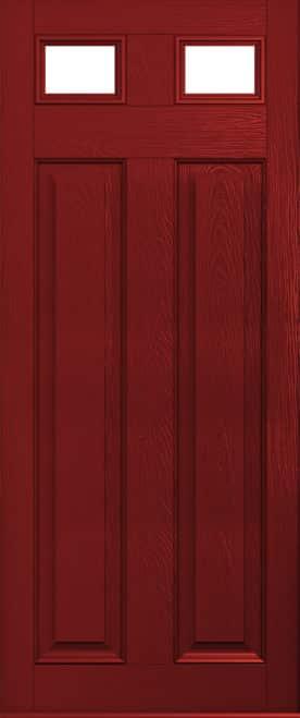 red glazed berkley door