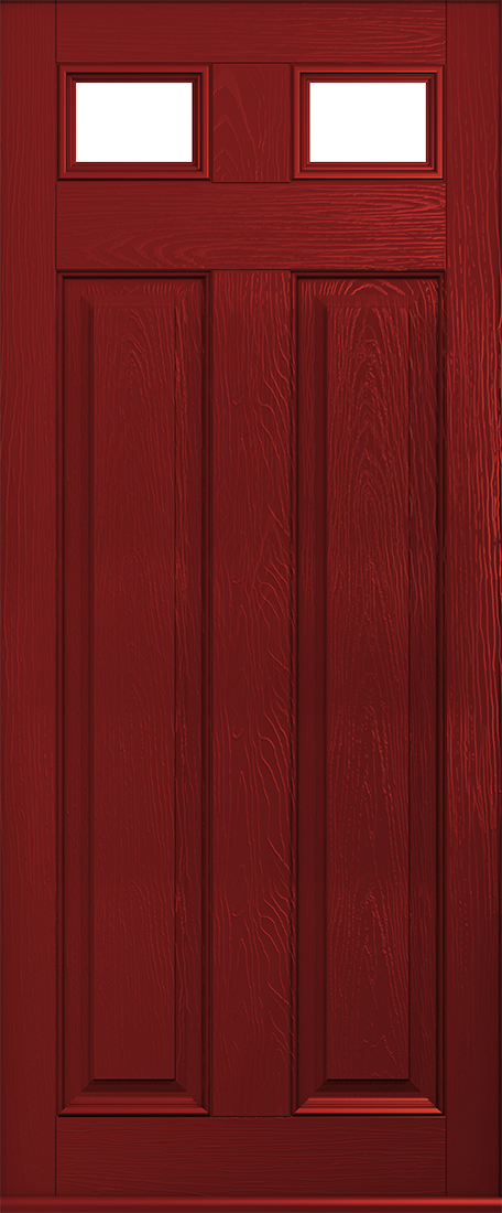 red glazed berkley door