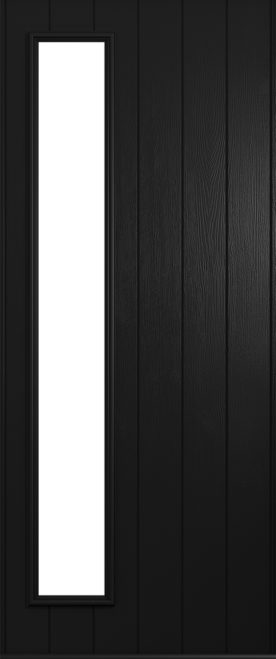 A Solidor Brescia front door in black