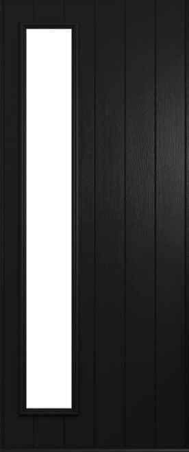 A Solidor Brescia front door in black