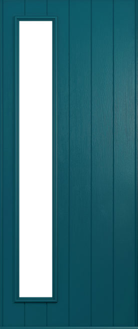 A Solidor Brescia door in peacock blue