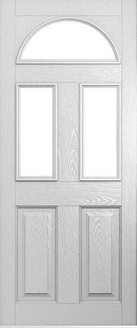 foiled white conway front door