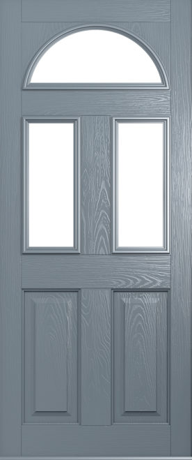 French grey conway front door