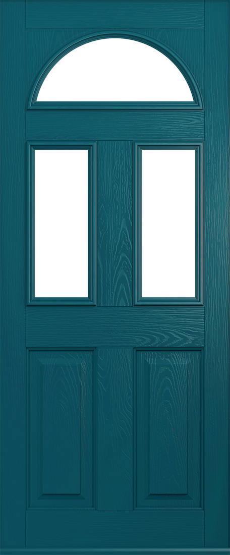 Peacock blue conway door