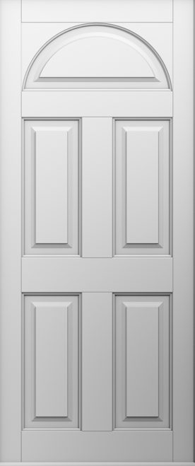 A Solid Conway front door in white