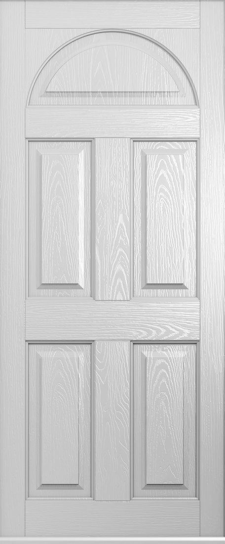 Solid Conway door in foiled white