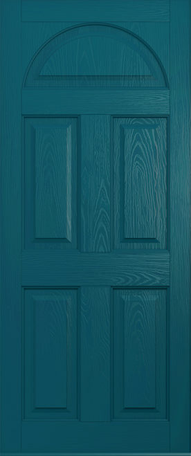 A Solidor Conway door in Peacock blue