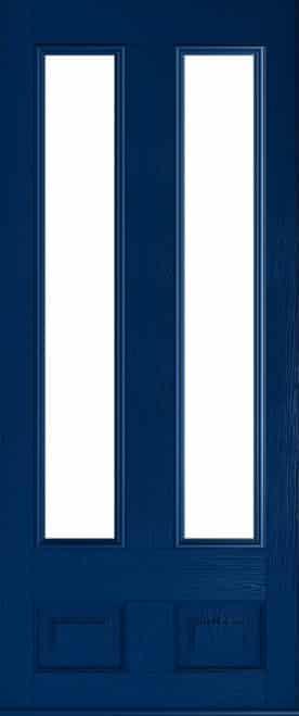 blue Edinburgh glazed door