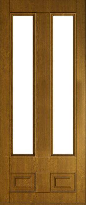 golden oak Edinburgh glazed front door