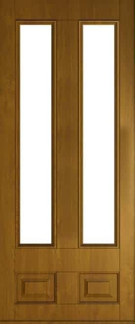 golden oak Edinburgh glazed front door