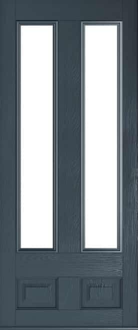 Anthracite grey Edinburgh glazed door