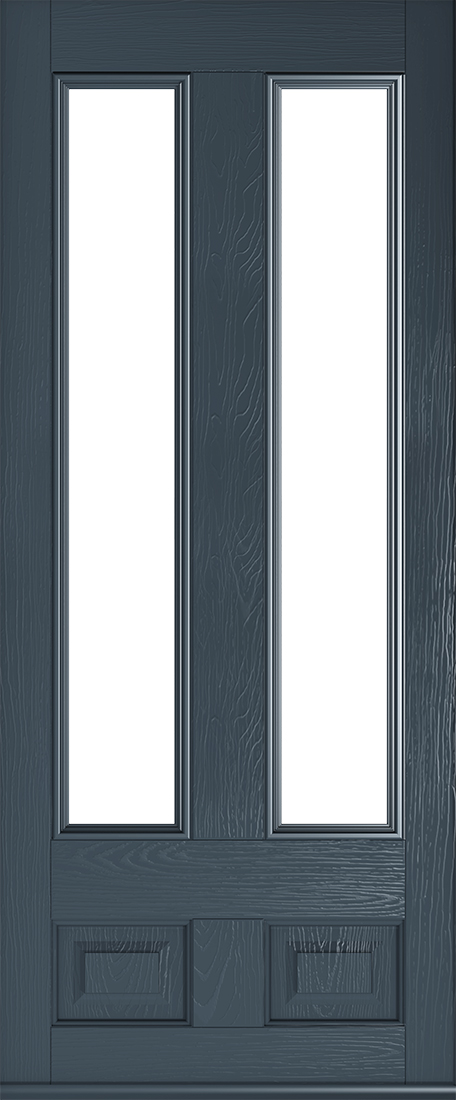Anthracite grey Edinburgh glazed door
