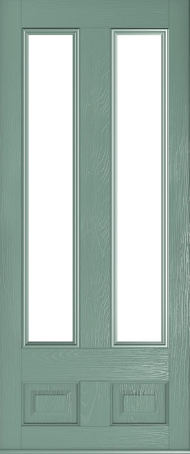 edinburgh glazed chartwell green door
