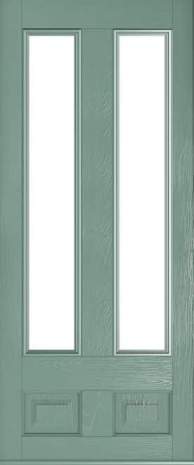 edinburgh glazed chartwell green door