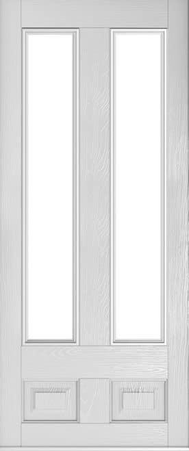 foiled white edinburgh door
