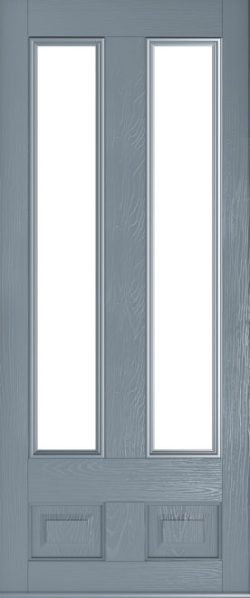 Edinburgh glazed french grey front door