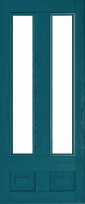 peacock blue edinburgh glazed door