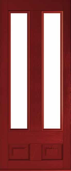 Edinburgh Red Glazed door