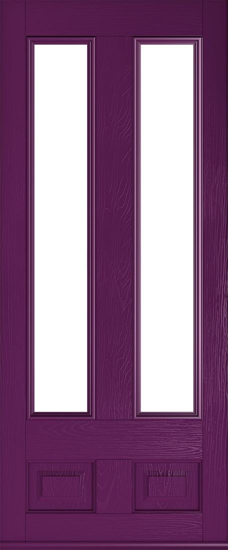 edinburgh glazed rich aubergine front door
