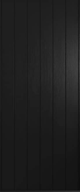 A Solidor Flint solid front door in black