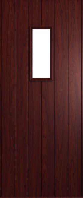 A Solidor Flint door in Rosewood
